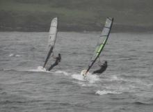 Windsurfing Perfect rainy day